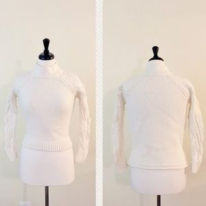 French Connection Cropped High Low Sweater